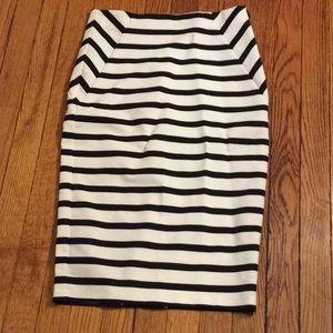 Zara Stripped Pencil Skirt